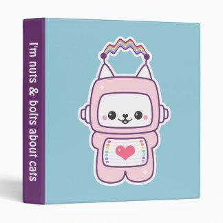 Cute Pink Cat Robot Binder