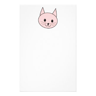 Cute Pink Cat Stationery