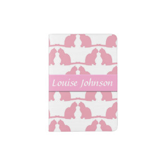 Cute Pink Cats Passport Holder