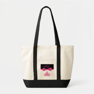 Cute Pink Chandelier & Ribbon Print Sweet Sixteen Canvas Bags