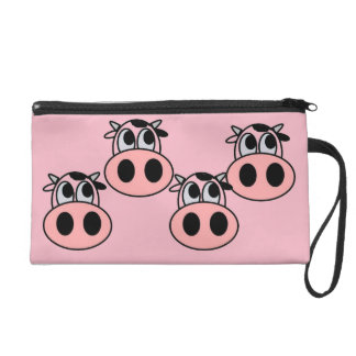 CUTE PINK COWS COSMETIC BAG