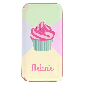 Cute Pink Cupcake and Pastel Colors Incipio Watson™ iPhone 6 Wallet Case