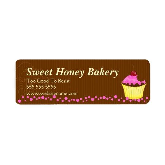 Cute Pink Cupcake Bakery Labels