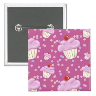Cute Pink Cupcake Pattern Pins