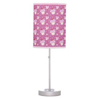 Cute Pink Cupcake Pattern Table Lamp