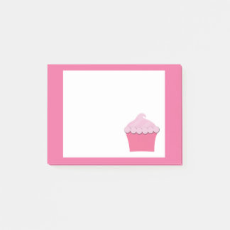 Cute Pink Cupcake, Personalized Post it Notes