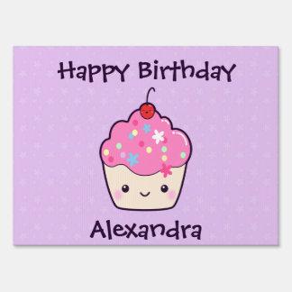 Cute Pink Cupcake Sign