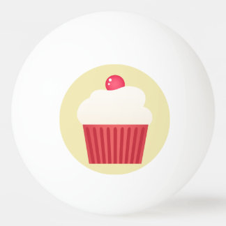 cute pink cupcakes Ping-Pong ball