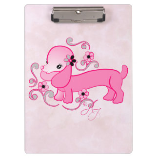 Cute Pink Dachshund ~ Clipboard