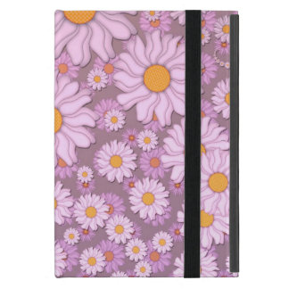 Cute PInk Daisies over Lavender Background Case For iPad Mini
