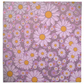 Cute PInk Daisies over Lavender Background Napkin