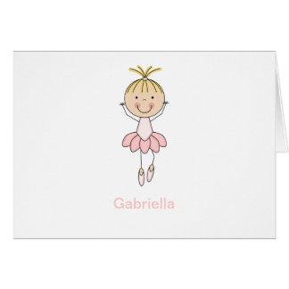 Cute , Pink, Dancing  Ballerina Card