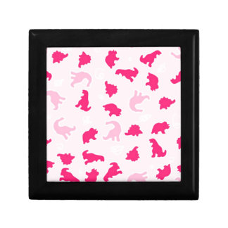 Cute pink dinosaurs gift box