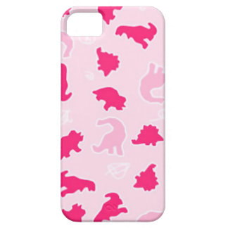 Cute pink dinosaurs iPhone 5 cover