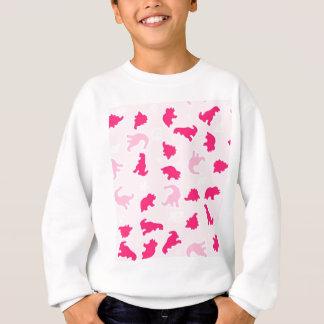 Cute pink dinosaurs sweatshirt
