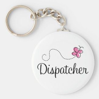 Cute Pink Dispatcher Keychain