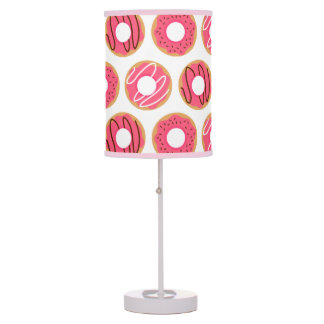 Cute Pink Donuts Pattern Table Lamp