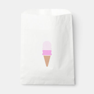 Cute Pink Double Scoop Ice Cream Cone Favour Bag