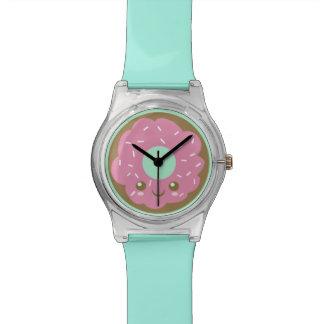 Cute Pink Doughnut Wristwatches