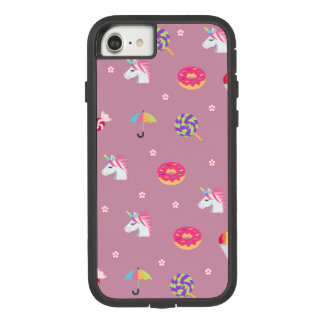 cute pink emoji unicorns candies flowers lollipops Case-Mate tough extreme iPhone 8/7 case