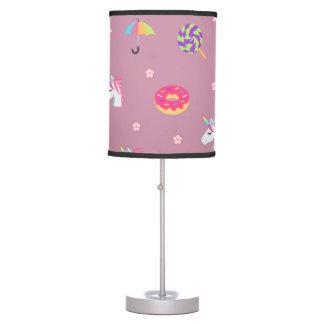 cute pink emoji unicorns candies flowers lollipops desk lamp