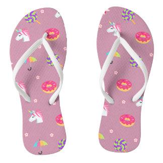cute pink emoji unicorns candies flowers lollipops flip flops