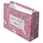 cute pink emoji unicorns candies flowers lollipops large gift bag