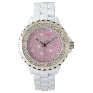 cute pink emoji unicorns candies flowers lollipops wristwatches