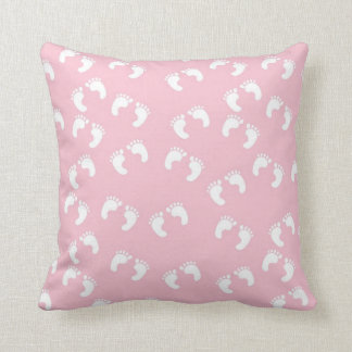 Cute Pink Feet Pillow