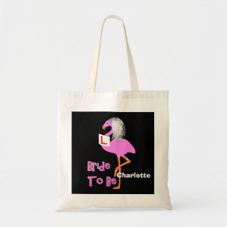 Cute Pink Flamingo Bachelorette Hen Party Theme Tote Bag