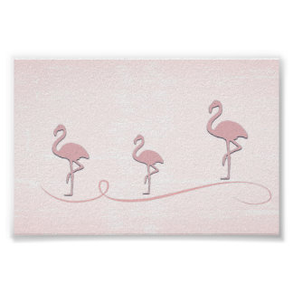 Cute Pink Flamingo Collage Poster