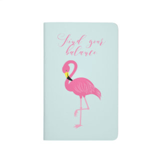 "Cute Pink Flamingo ""Find Your Balance"" Journal"