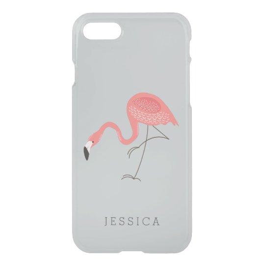 Cute Pink Flamingo Illustration iPhone 7 Case
