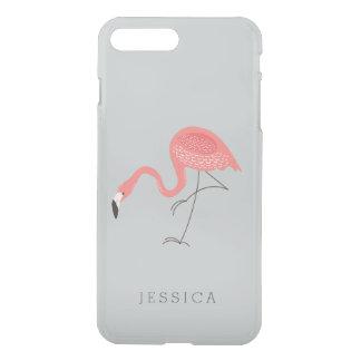 Cute Pink Flamingo Illustration iPhone 7 Plus Case