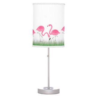 Cute Pink Flamingos Illustration Table Lamp
