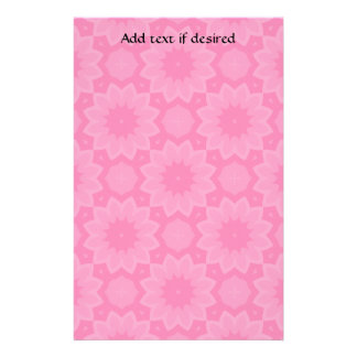 Cute pink floral kaleidoscope stationery
