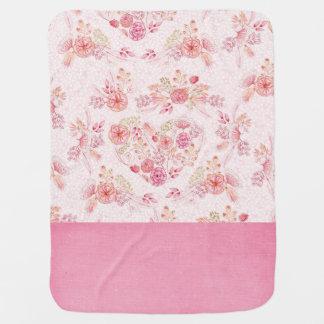 Cute Pink Flower Baby Blanket