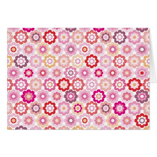 Cute pink flower note card