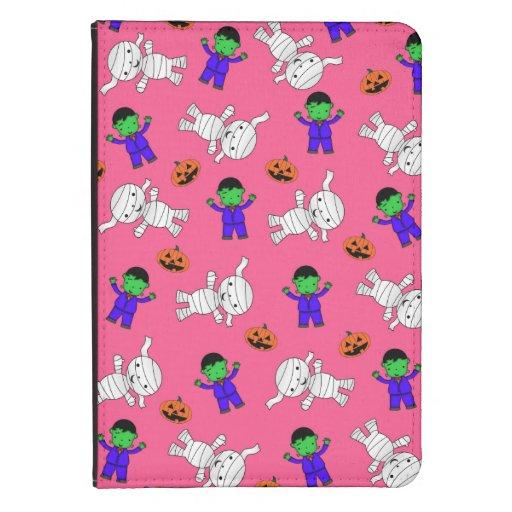 Cute pink Frankenstein mummy pumpkins Kindle 4 Case