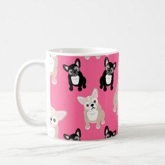 Cute Pink Frenchies French Bulldogs Coffee Mug
