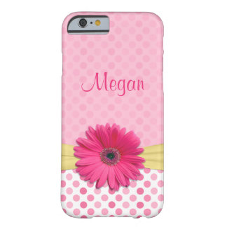 Cute Pink Gerbera Daisy Polka Dot iPhone 6 case