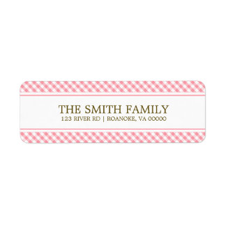 Cute Pink Gingham Pattern