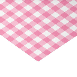 Cute Pink Gingham Pattern Tissue Paper