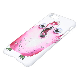 Cute pink girly watercolor chicken iPhone 8/7 case