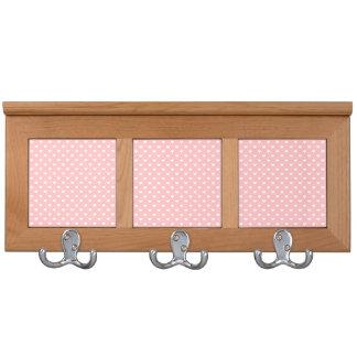 Cute Pink Heart Pattern Coat Racks