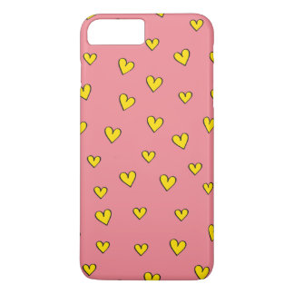 Cute Pink Heart Pattern iPhone 7 Plus Case