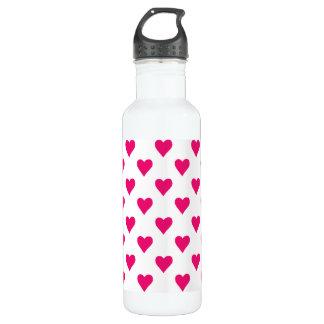 Cute Pink Heart Pattern Love 710 Ml Water Bottle