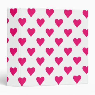 Cute Pink Heart Pattern Love Binder