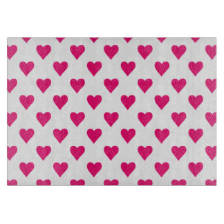 Cute Pink Heart Pattern Love Cutting Board