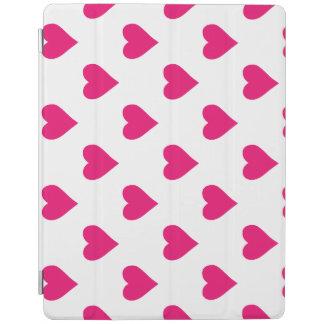 Cute Pink Heart Pattern Love iPad Cover